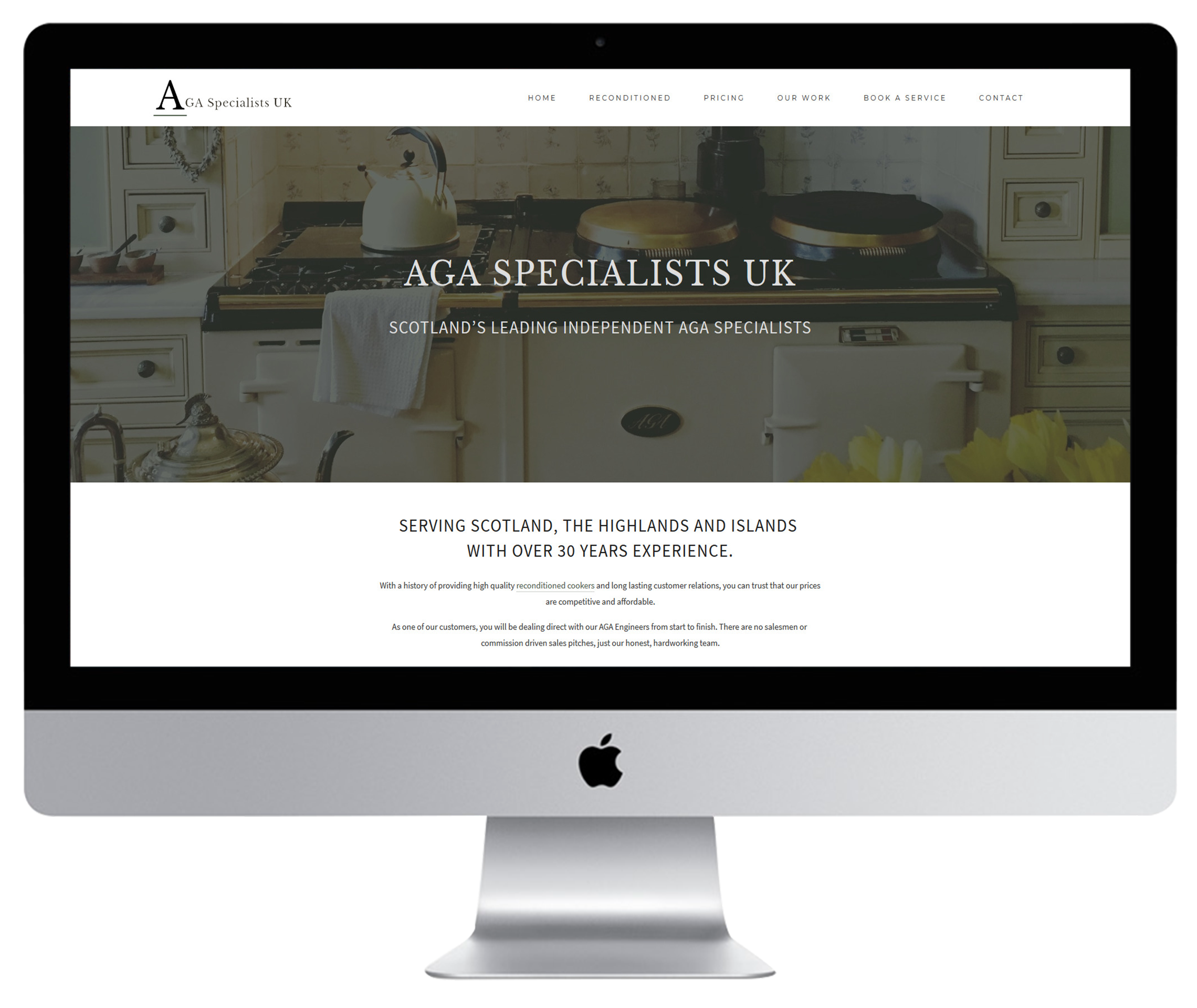 AGA Specialists UK - Squarespace Web Design UK Redesign.