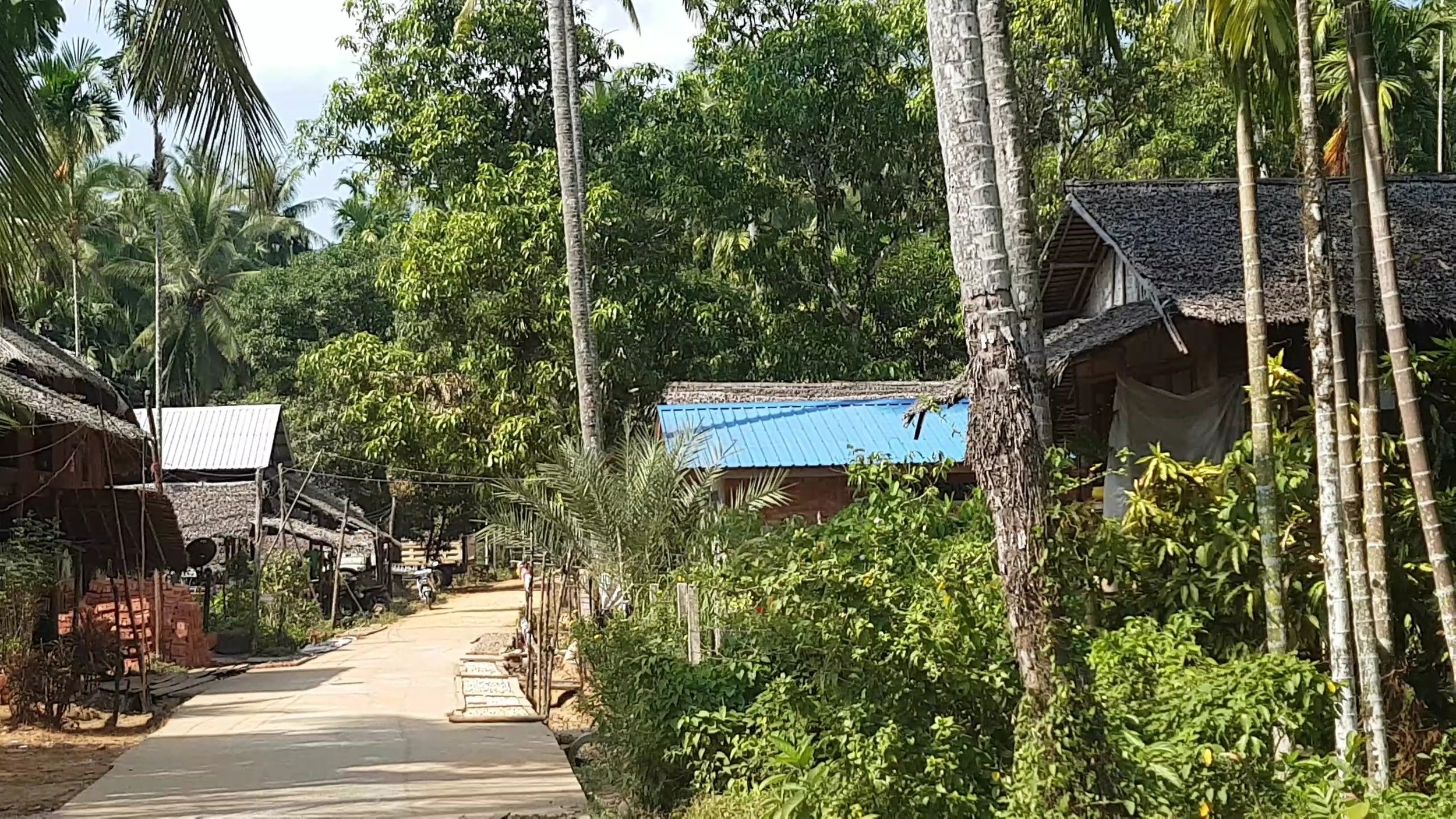 We have found and learnt from meesayar by looking for distribution poles made of collected tree trunks and bamboo poles along the street, signs of a local mini-grid.