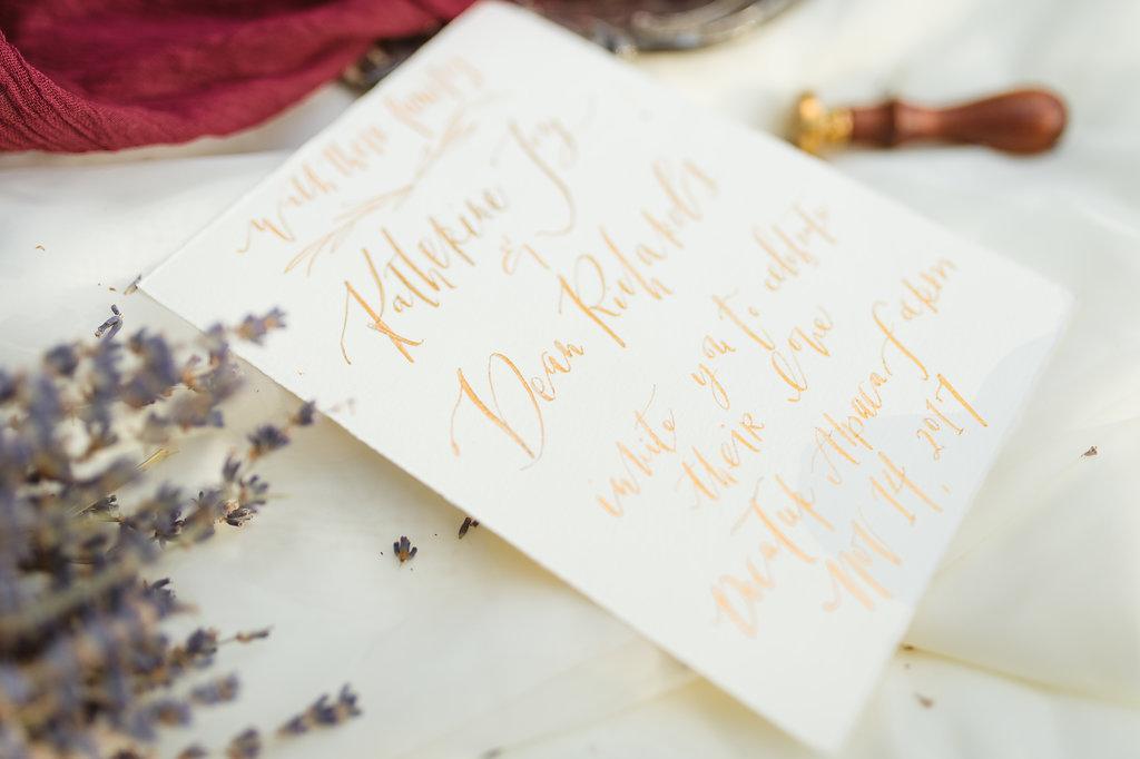 handwritten calligraphy invitation