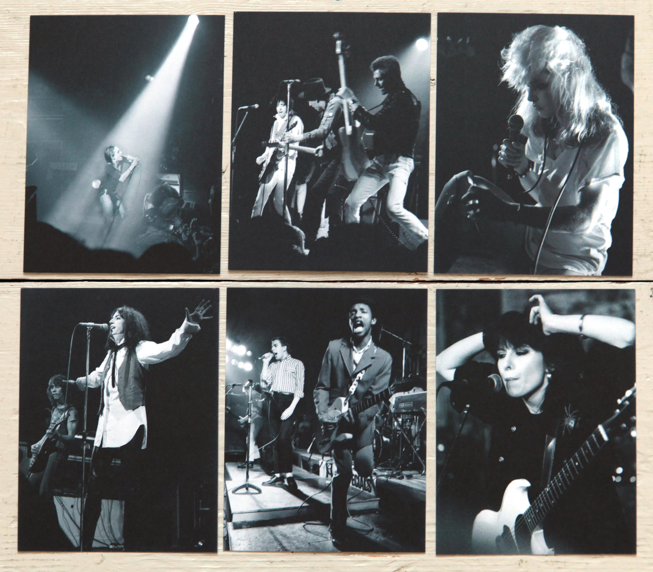 Phil Grey's Postcards. Blondie, The Clash, Patti Smith, Iggy Pop, The Specials, Chrissie Hynde, The Pretenders