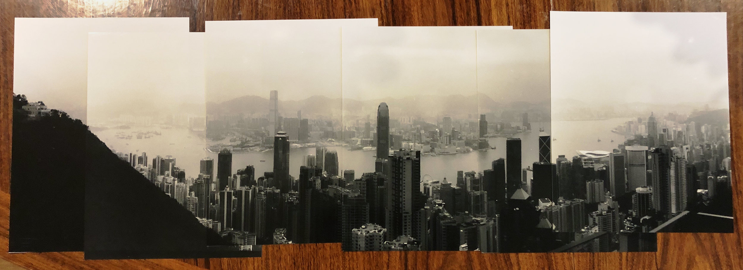 Andrew's panorama of a very different Hong Kong