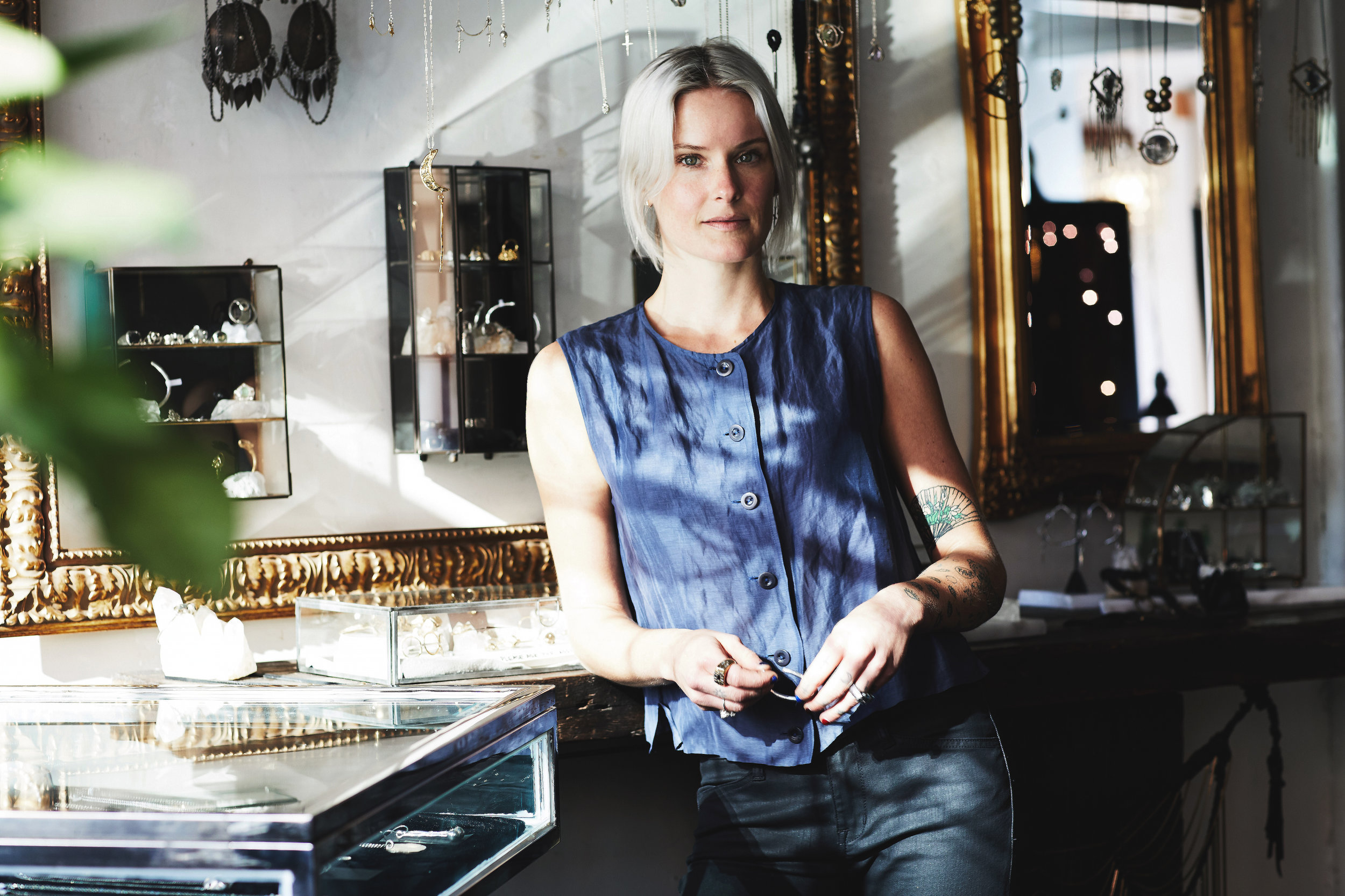 Jewelry designer Britt Bolton photographed by Grace Huang for Two Eye Monkey
