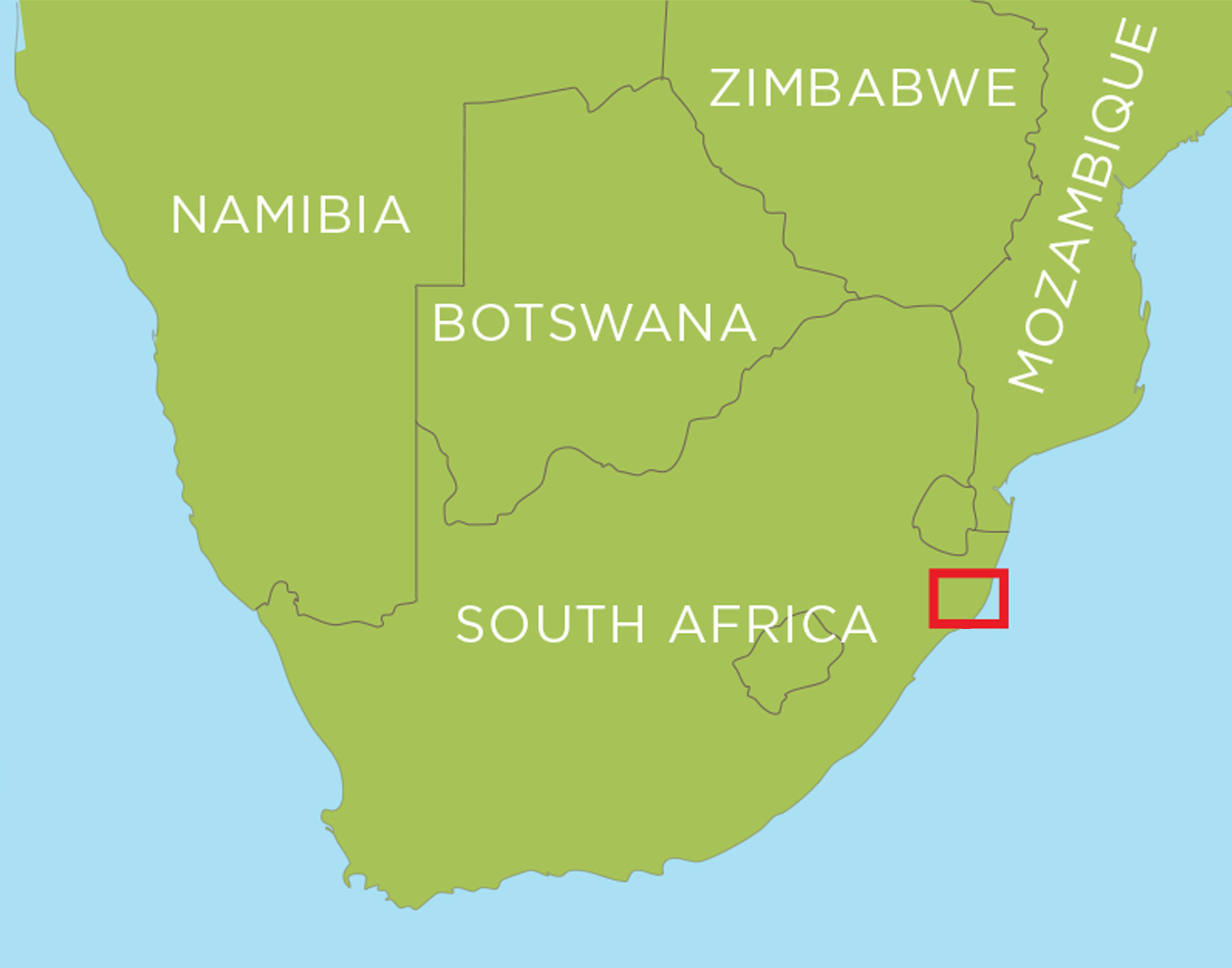 Copy of Located in Kwazulu-Natal on the east coast of South Africa