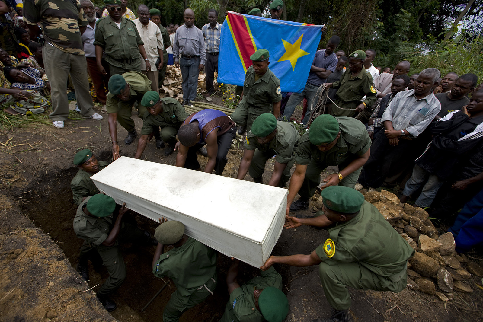 Ranger funeral, DRC. Image Source: Virunga Community Programs.