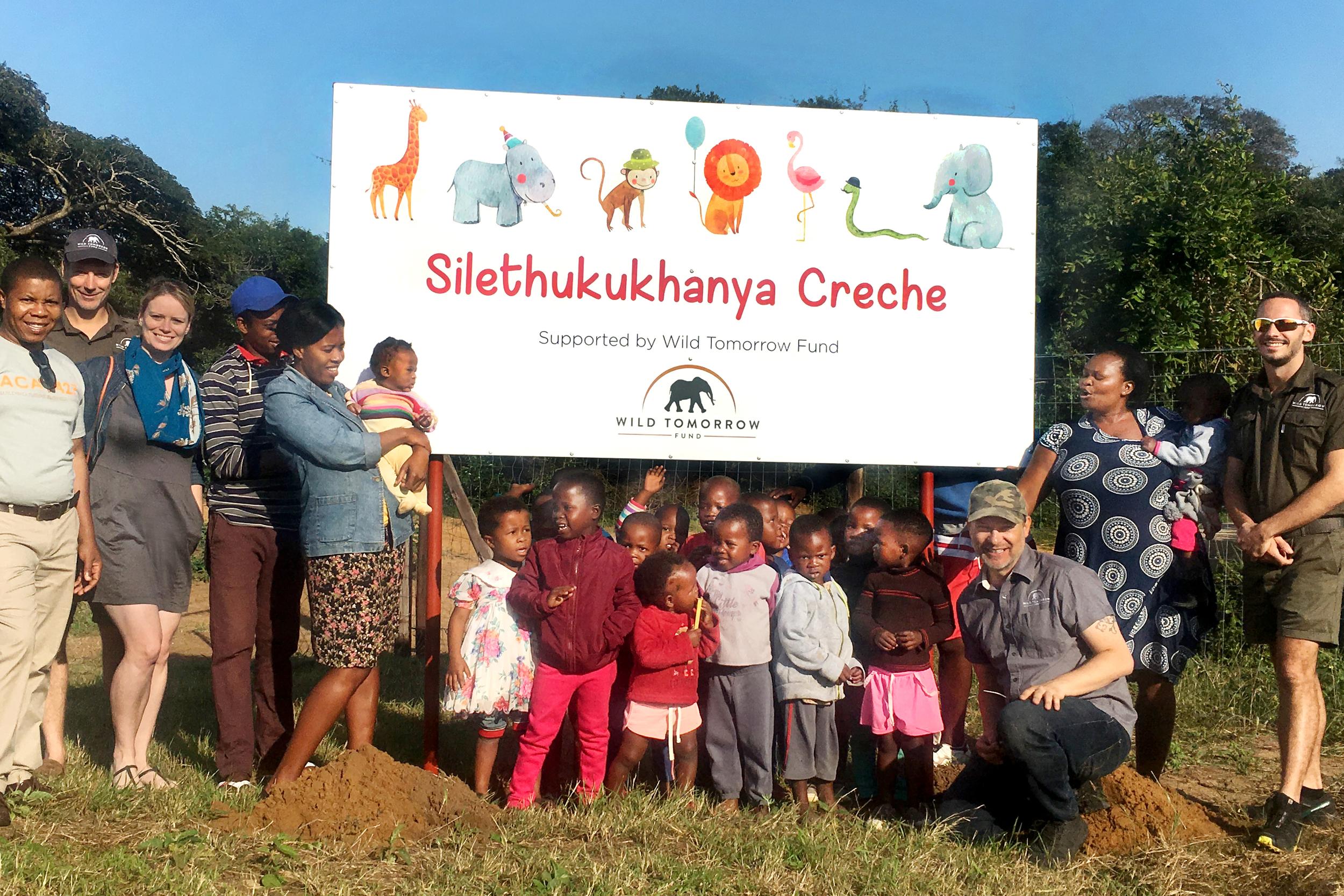 Sharing a special moment at the Silethukukhanya Creche