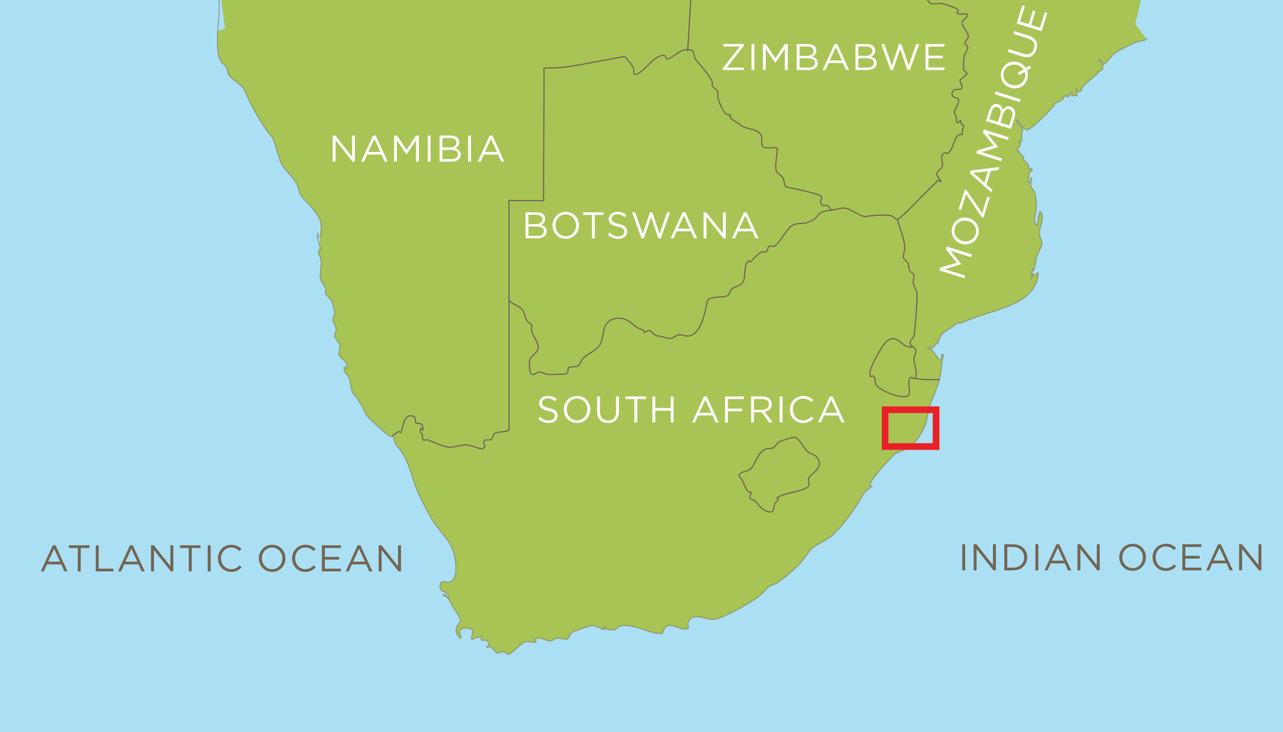 The Mfuleni Conservancy is located in the KwaZulu-Natal Province of South Africa, within the global biodiversity hotspot (the Maputaland-Pondoland-Albany hotspot).