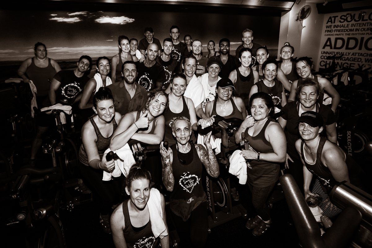 A post-ride sweaty team shot at SoulCycle Union Square.