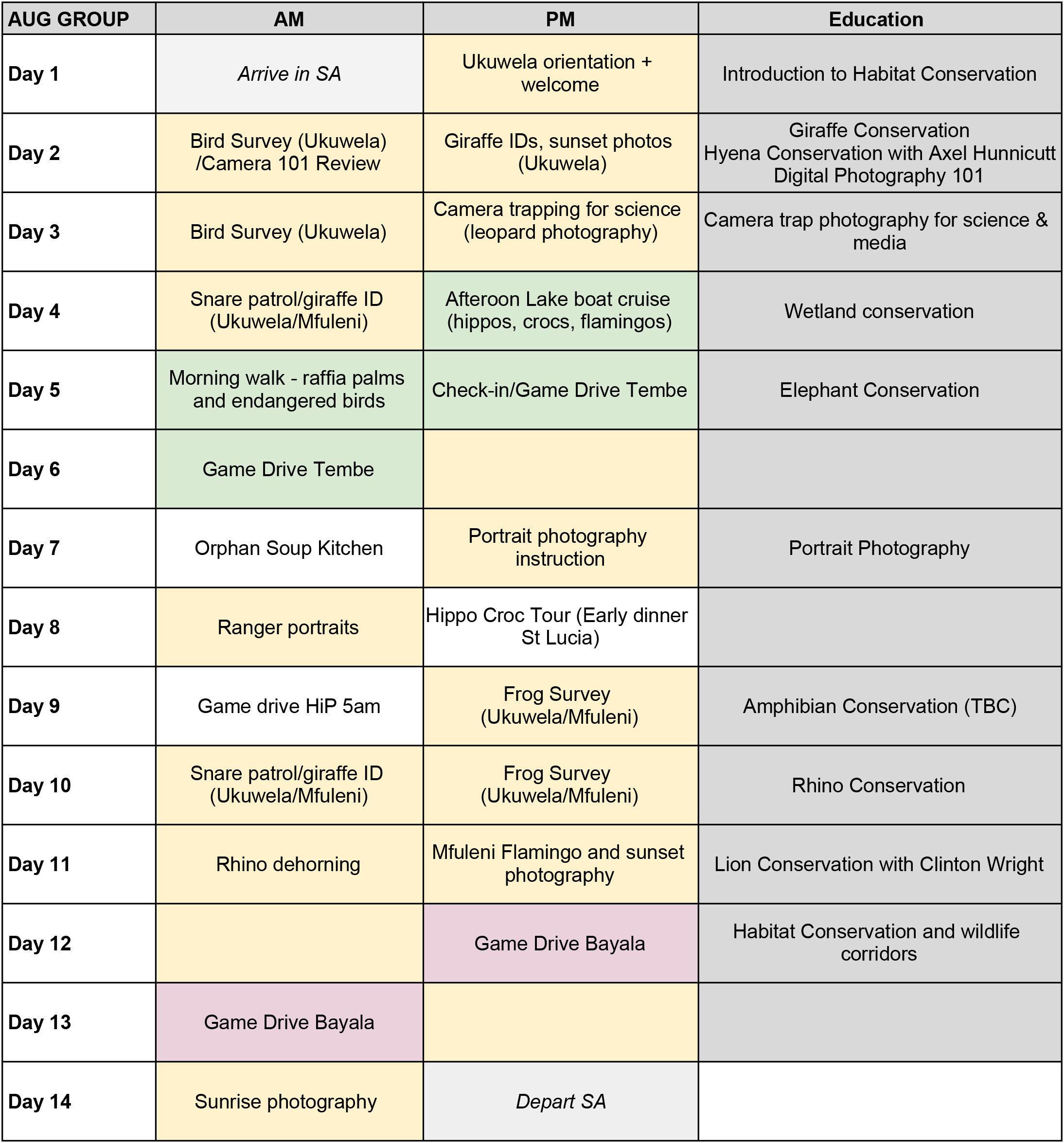 Photography  Volunteer Trip sample itinerary.jpg