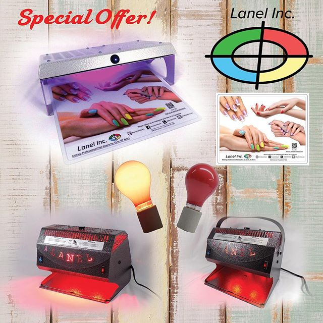 "Special offer! FREE mat with purchase of our new ""Dual Quiet Dri"". Also 2 FREE bulbs with purchase of our Deluxe Manicure or Pedicure Dryer. Please visit our website www.lanelinc.com #lanel #lanelinc #lanelincorporated #naildryer #nails #nails💅 #manicure #pedicure #new #nailsalon #beautysalon #nailsofinstagram #spa #spaday #madeintheusa #metal #specialoffer #deal #nailsupplies #beautysupply #pink #newyork"
