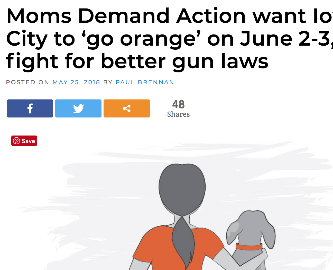 Moms Demand Action want Iowa City to 'go orange' on June 2-3 to fight for better gun laws