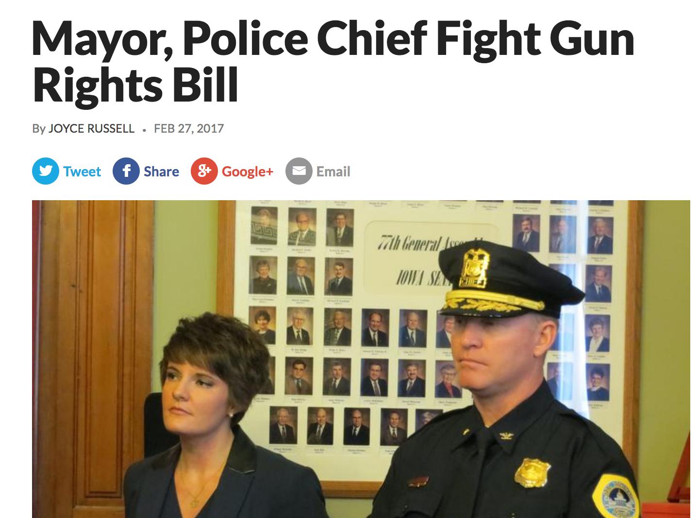 Mayor, Police Cheif Fight Gun Rights Bill