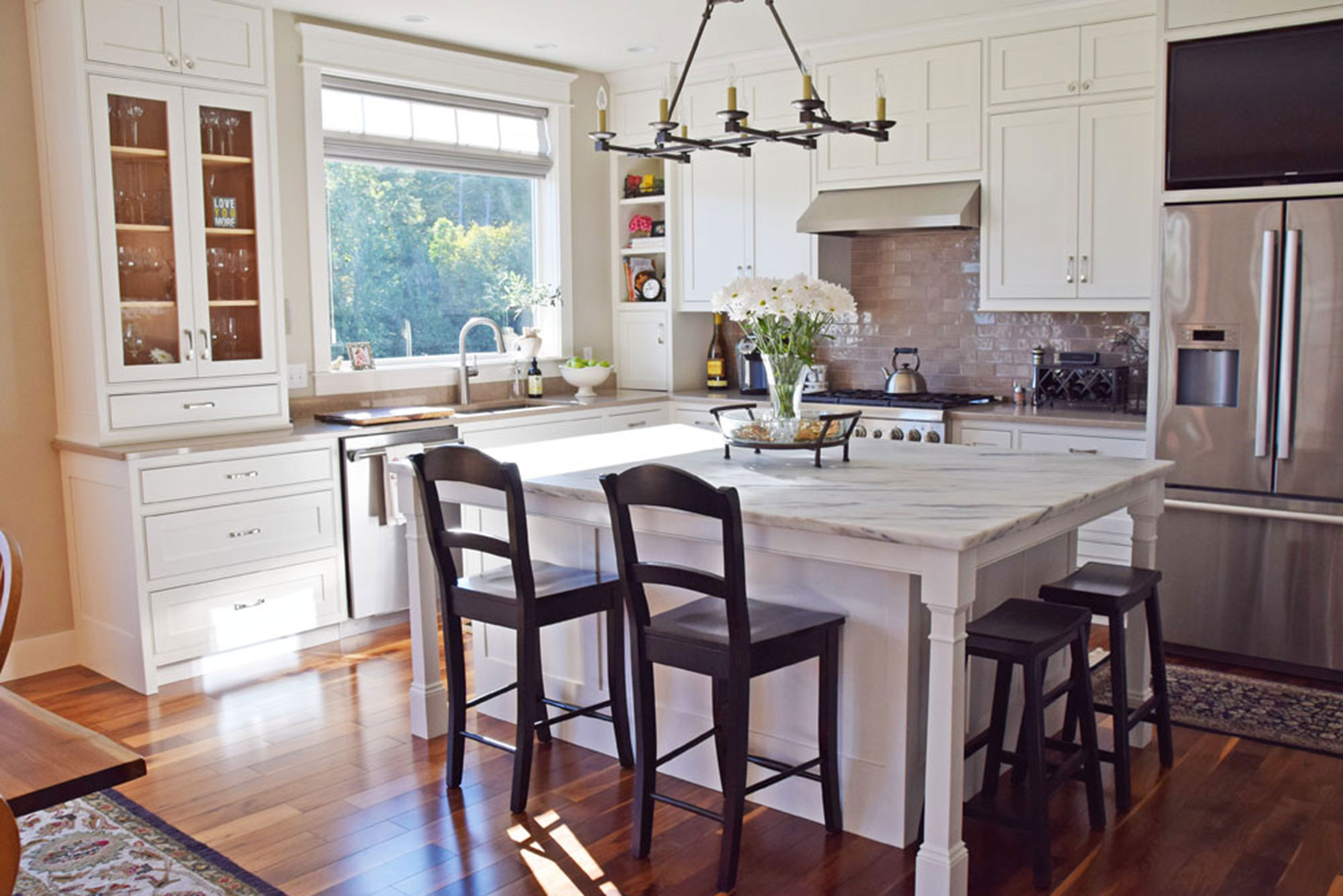 """Bright White Kitchen - Award Winner - Named the """"Best Kitchen"""" by the Home Builders and Remodelers Association, this extremely beautiful and crisply clean white kitchen took home the gold! More Pictures"""