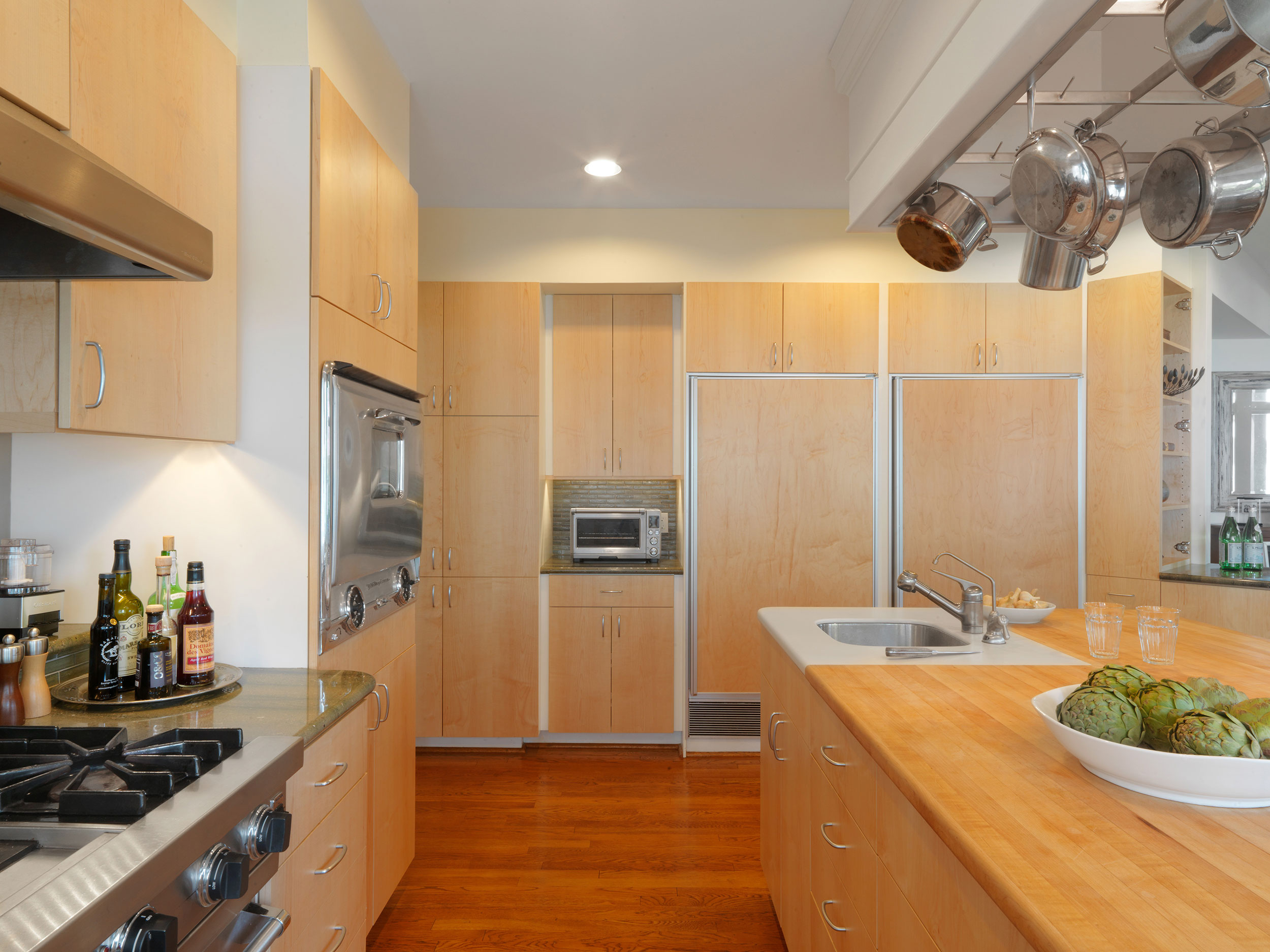 Contemporary Maple Slab Kitchen Simpson Cabinetry