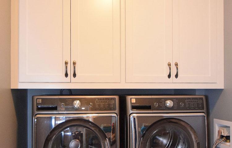 White Laundry Room -