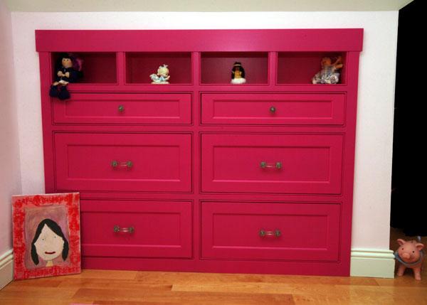Whimsical Built-In Bookshelf for Girl's Room