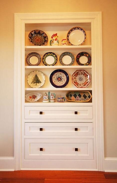 Kitchen Built-In Shelf: White