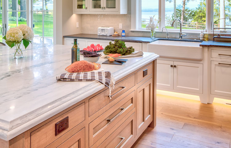 A Place to Gather - Large island and lit baseboards make this a unique and dream kitchen for generations. More Pictures