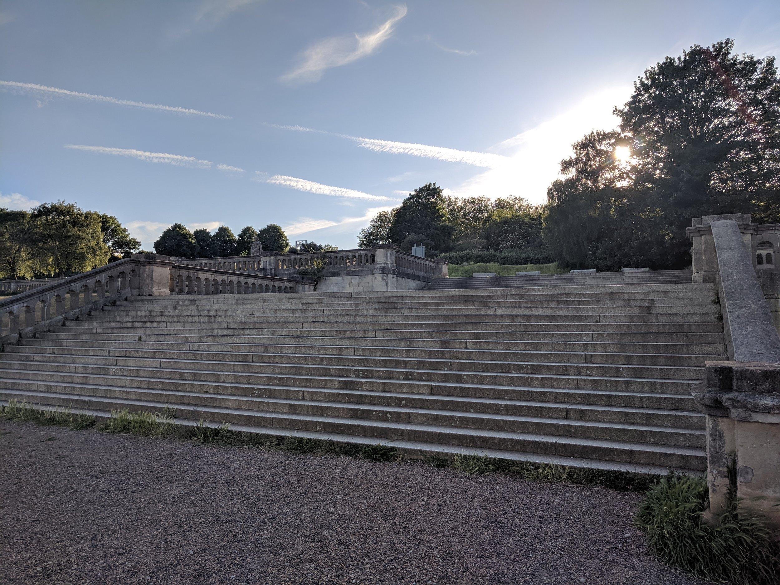 Crystal Palace ruins.