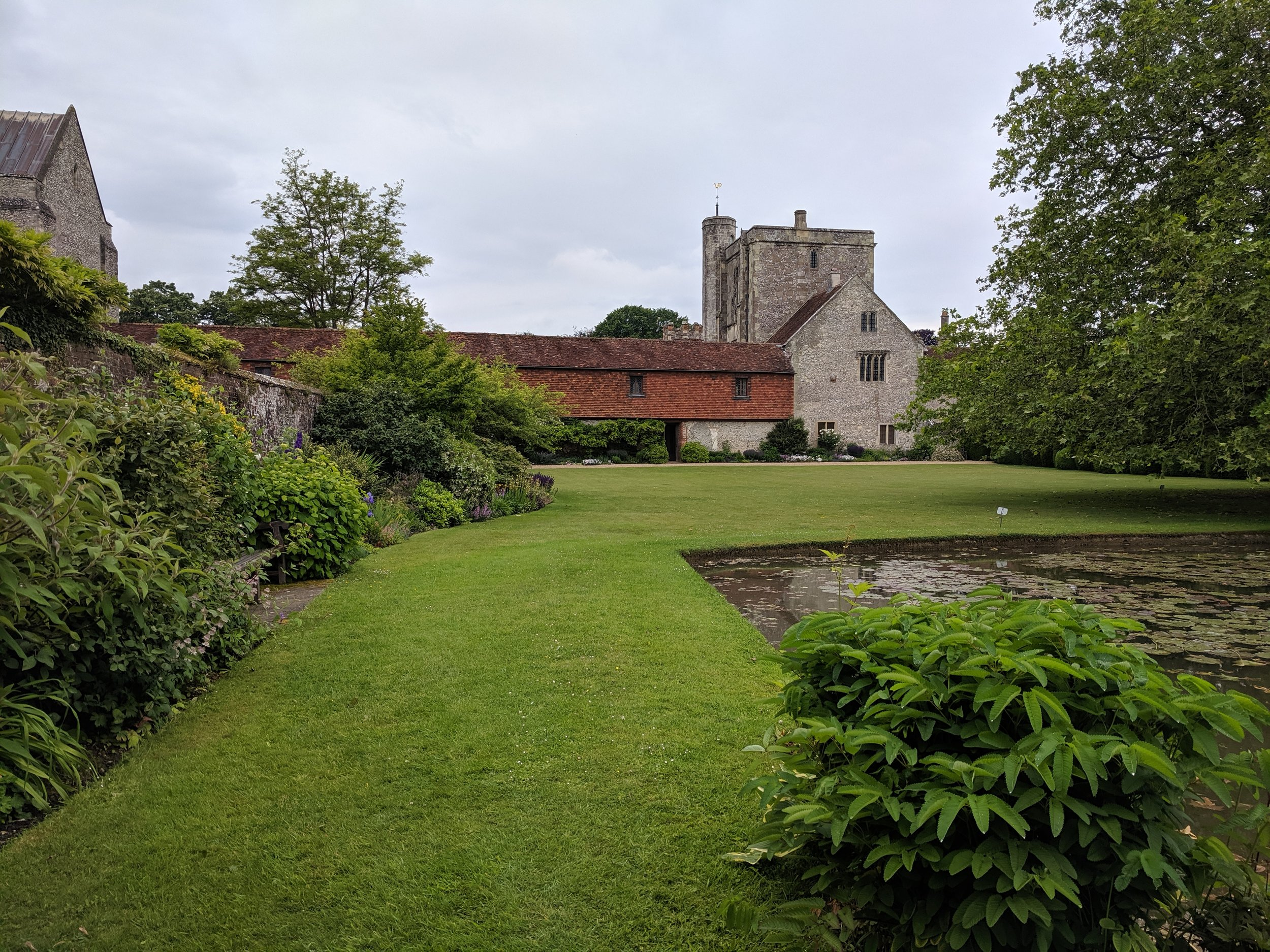 The Hospital of St Cross and Almshouse of Noble Poverty. Not pictured: dead pigeon in the pond. (Though of course I took a photo for Heidi Trudell and her  Dead Birds 4 Science!  group.)