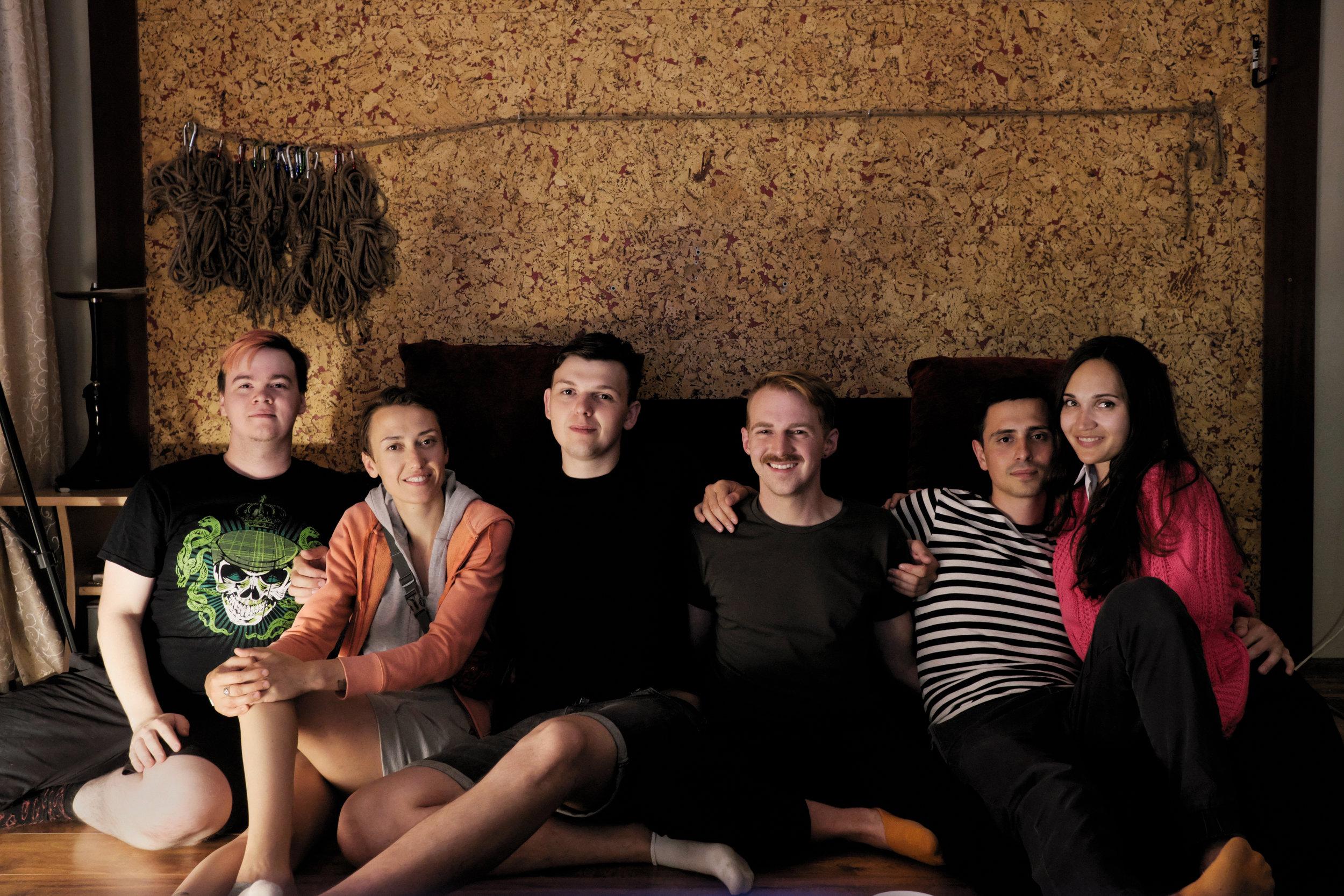 Felix, Nadya, Seryozha, me, Vlad, Nastya. Photo by Felix Morozov.