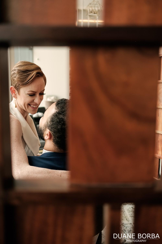 Bride embracing with Groom