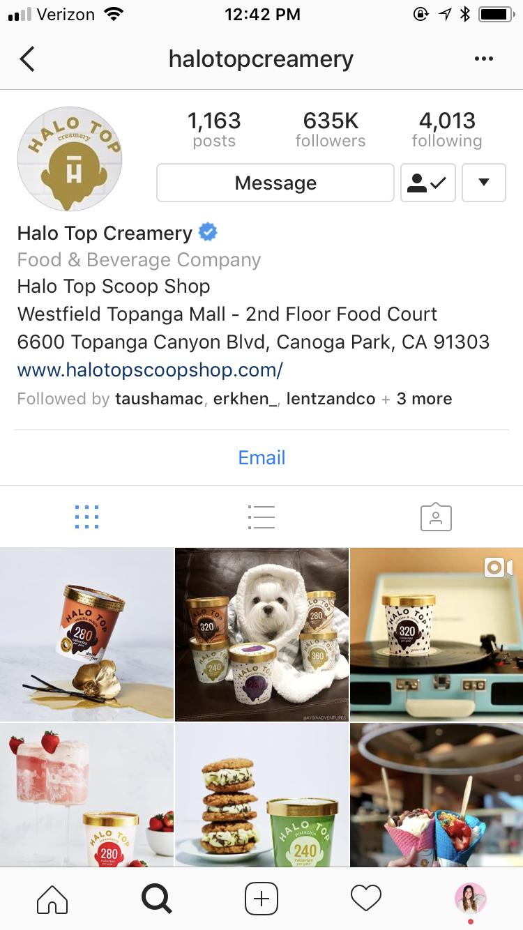 Halo Top Creamery - Social Media Marketing