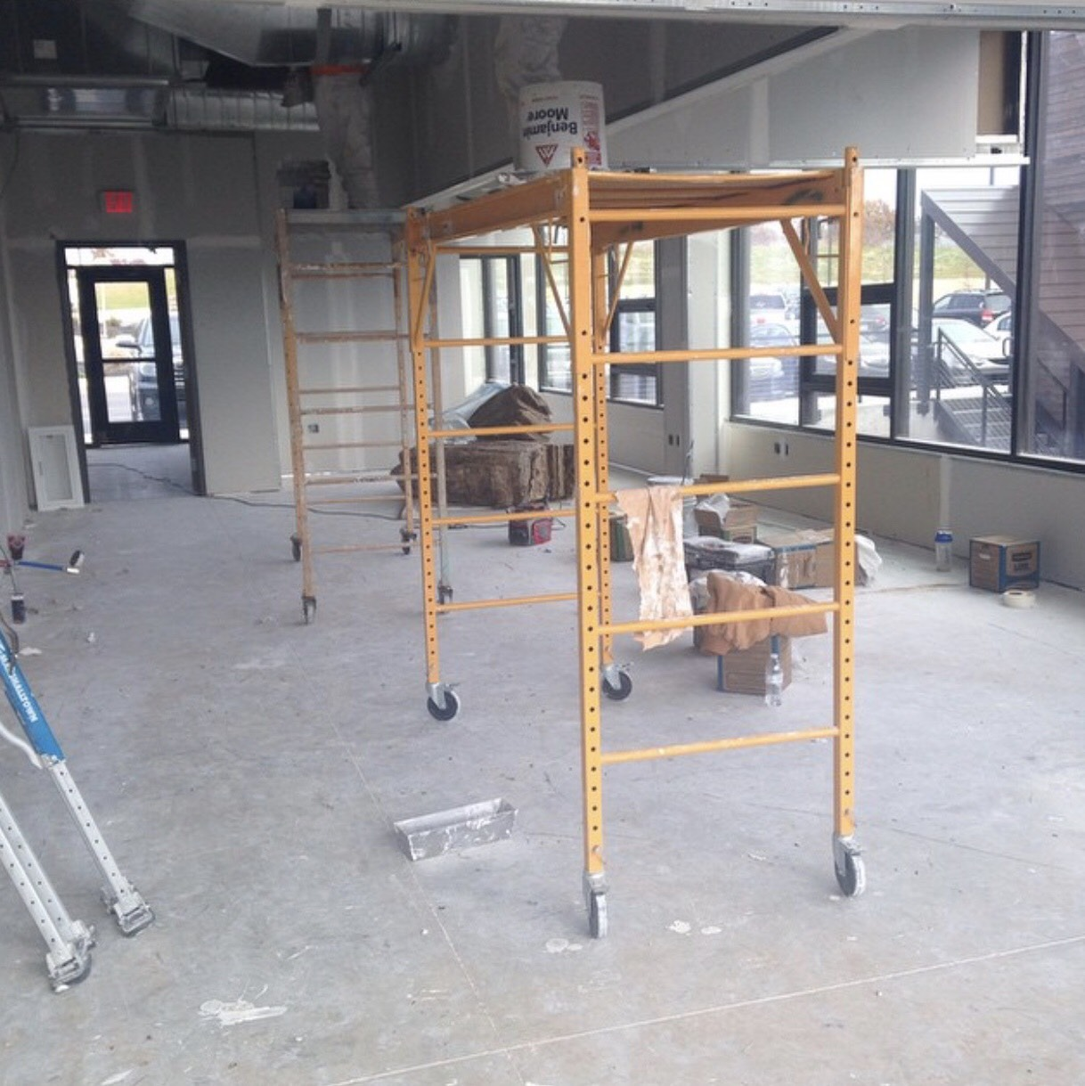 Lentz & Company during renovation!