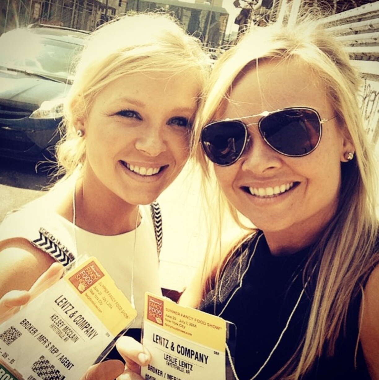 Kelsey McClain and Leslie Lentz attending their first trade show, the Summer Fancy Food Show