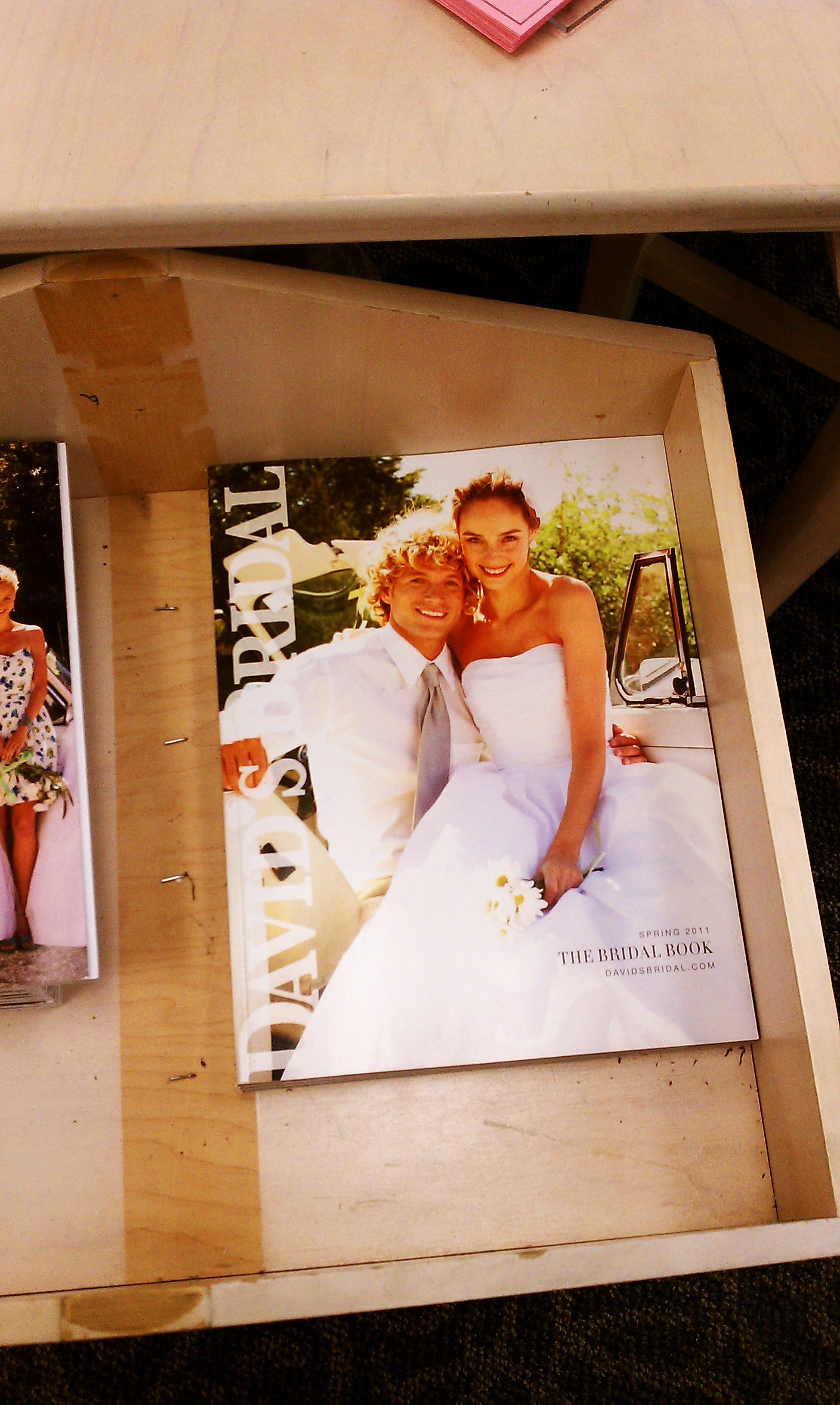 Also, I have to share this picture! When I was dress shopping at David's Bridal, I came across this magazine. Doesn't that guy look so much like Kris? CRAZY!! I have never met anyone who looks anything like Kris, so this was way funny to me, especially the timing!