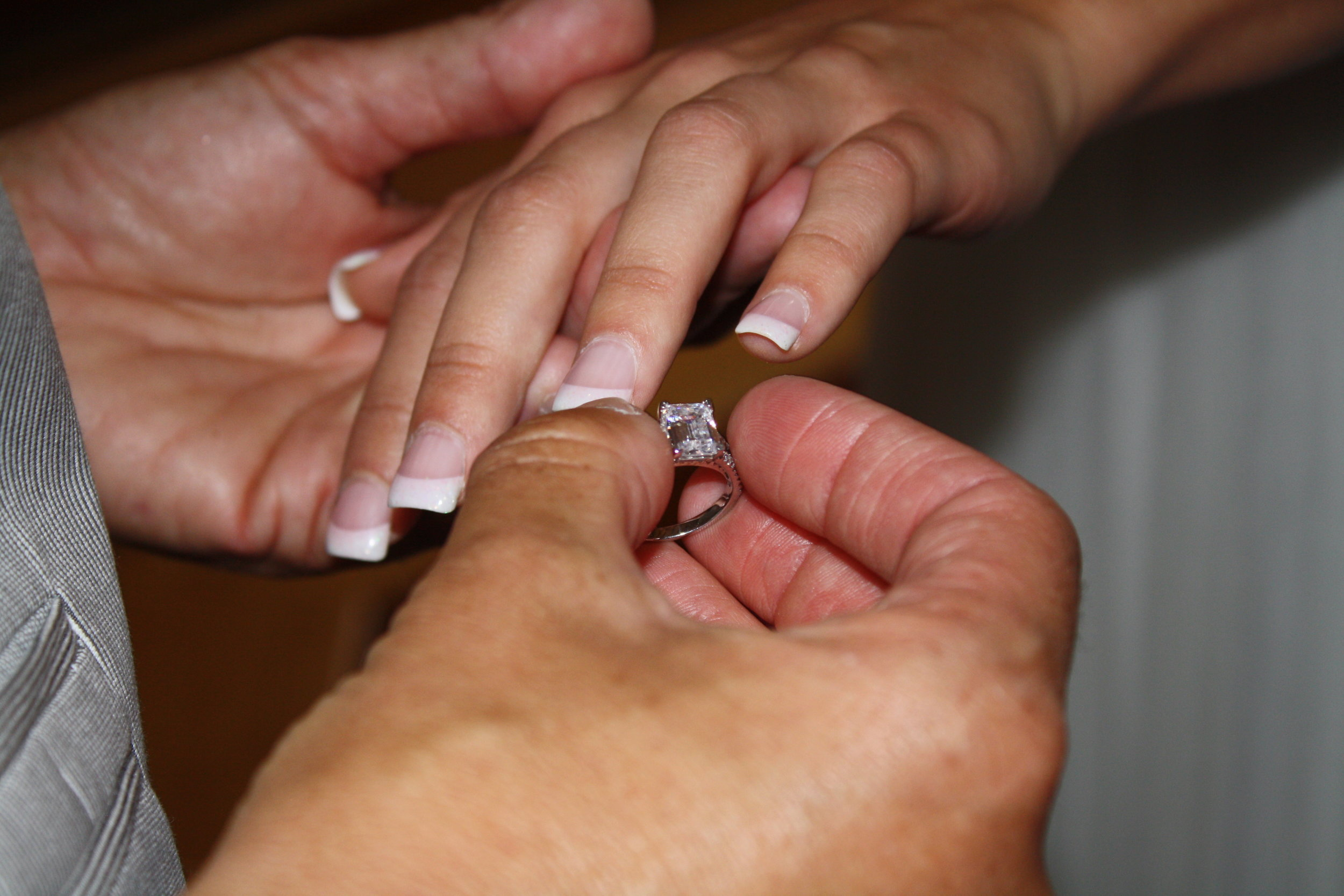 She liked it, so she put a ring on it!