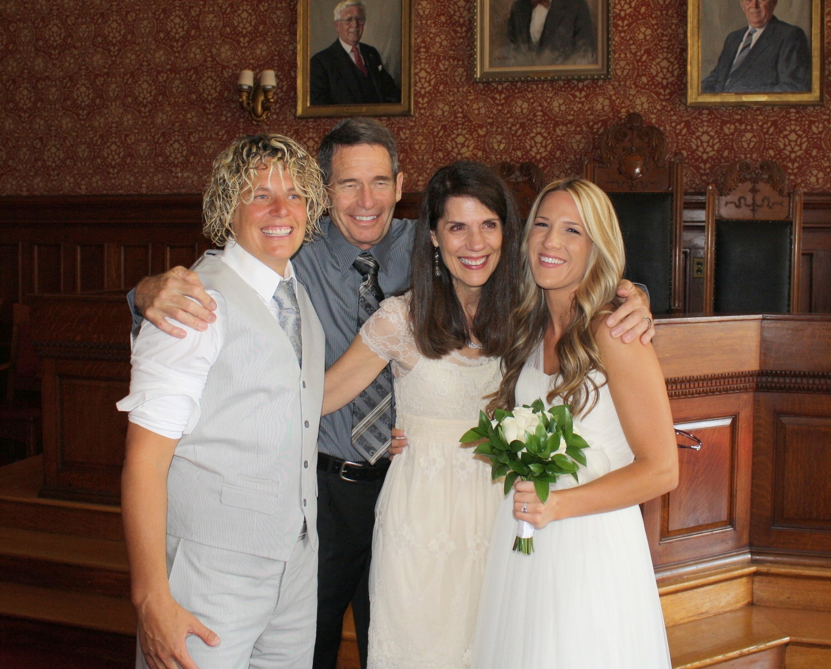 I am so happy to call these lovely people my parents! Love them!