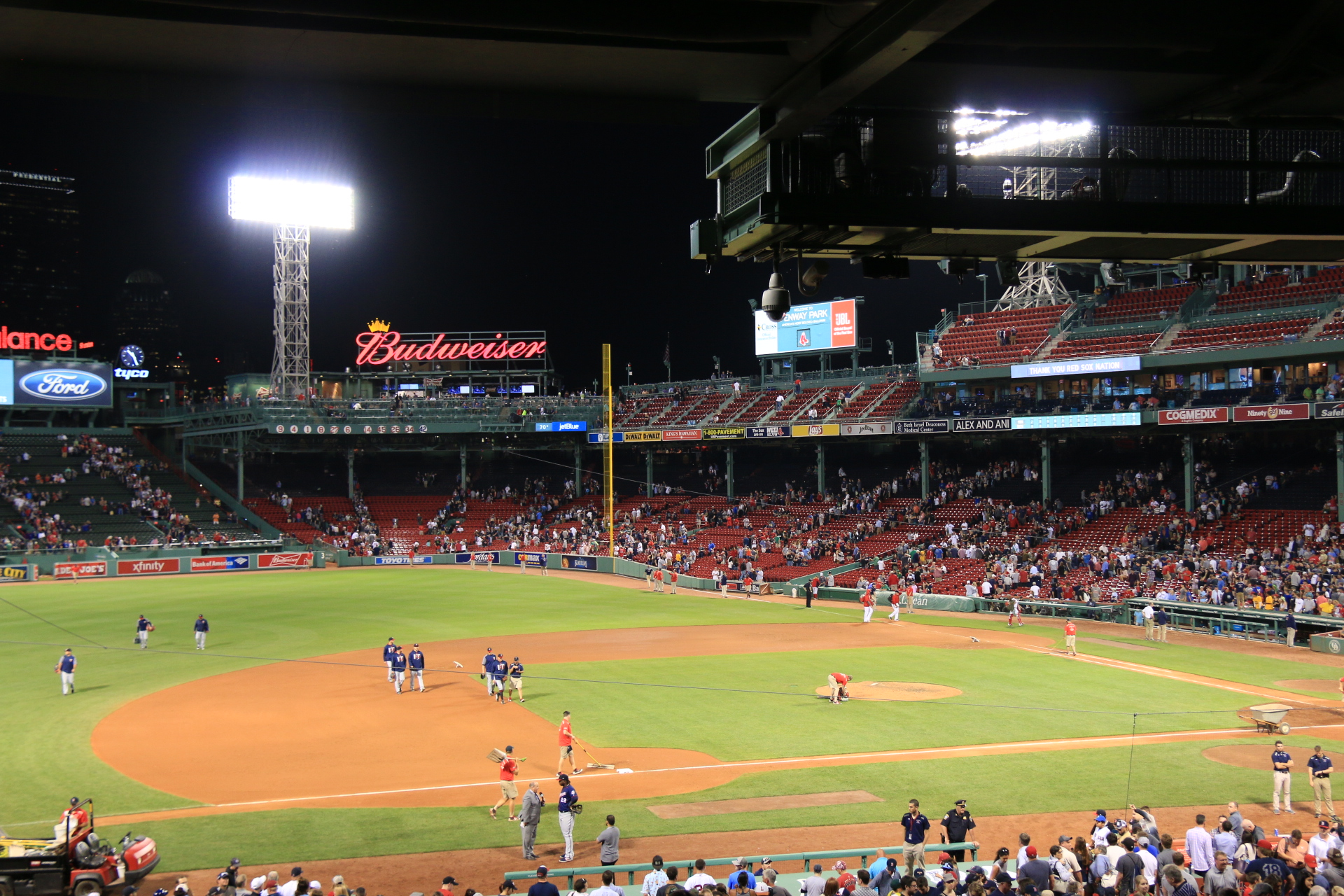 A huge highlight for me was going to a Red Sox Game!