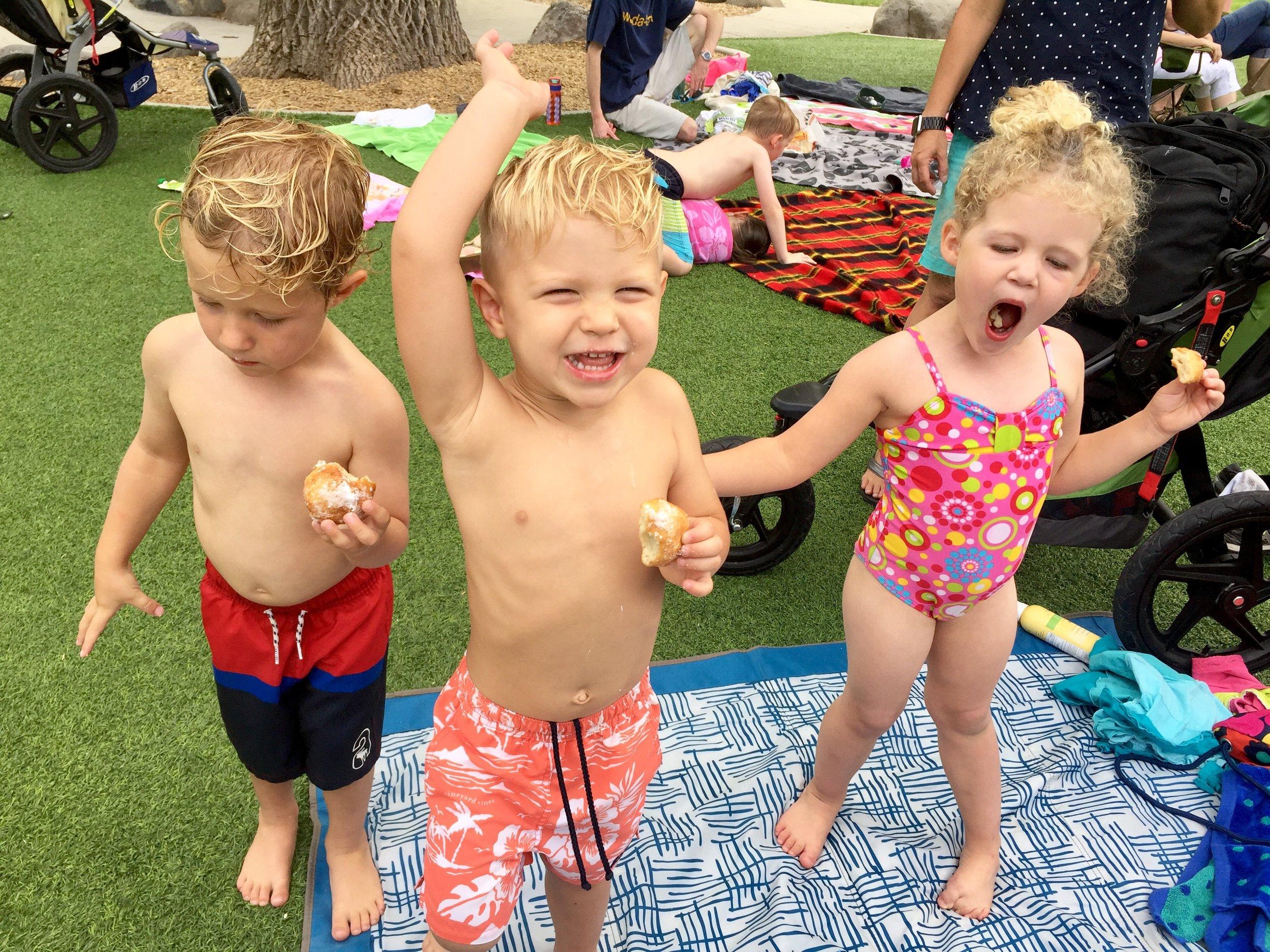 Cooling down at the Liberty Park Splash Pad!