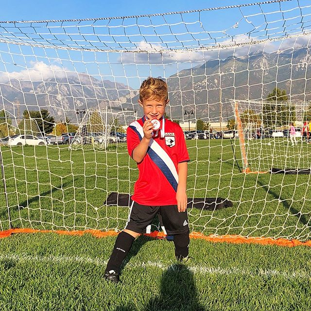 Last night was Boston last soccer game of the season! He improved so much and I think he found a true love for being goalie! I am so proud of him!!