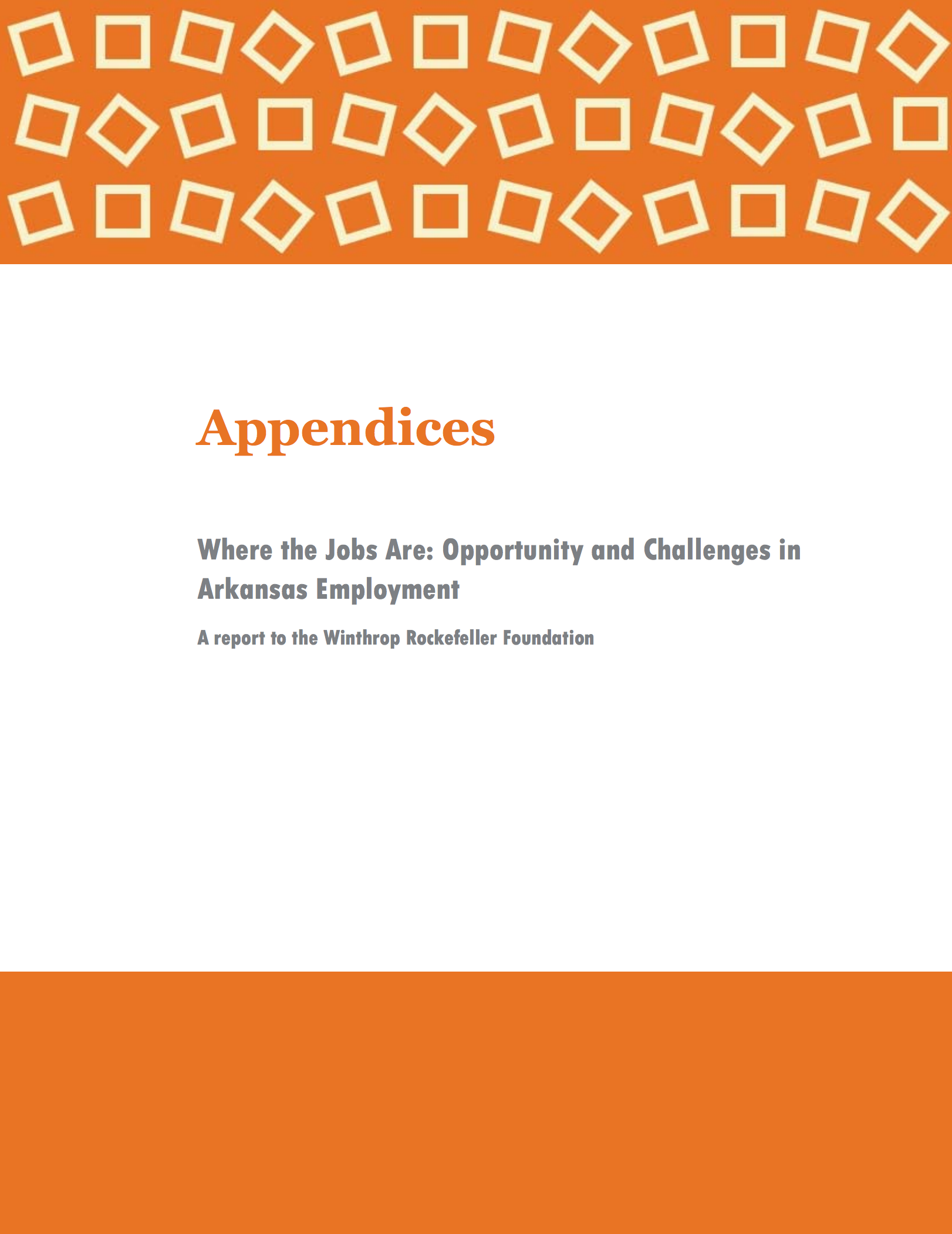 Where the Jobs Are - Appendices