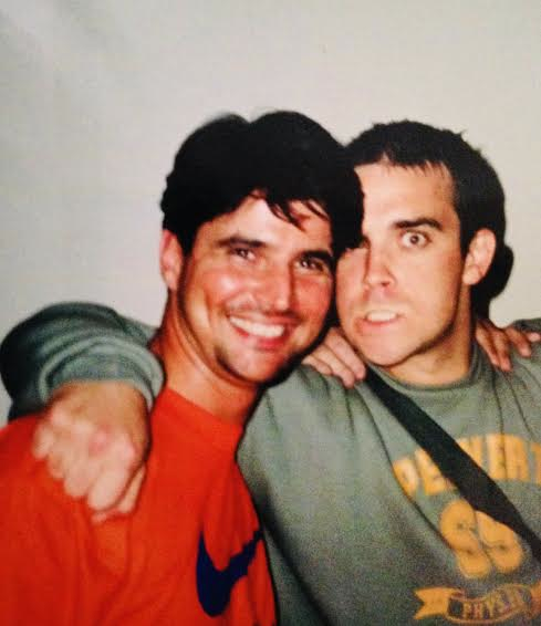 Tony Stowell and Robbie Williams