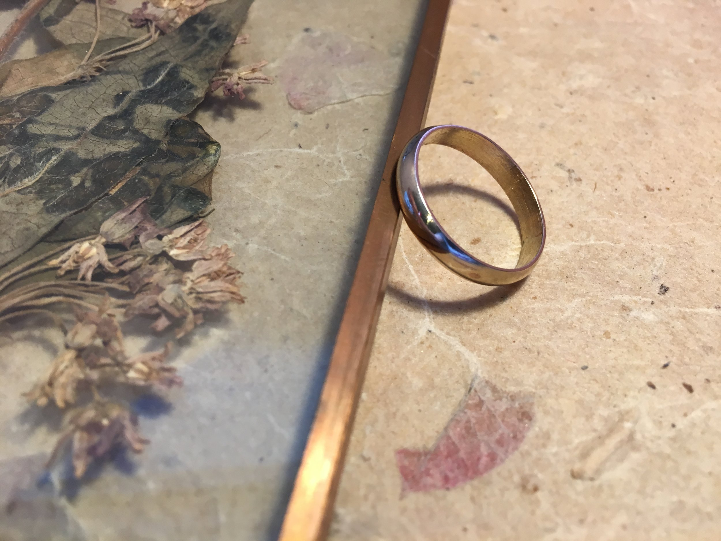 D Shaped Ring with a Plain Polished or Brushed Texture  Available in varying widths and thicknesses in white gold, yellow gold, rose gold, sterling silver, ethical recycled silver, and ethical recycled gold.  £50 - £350 *