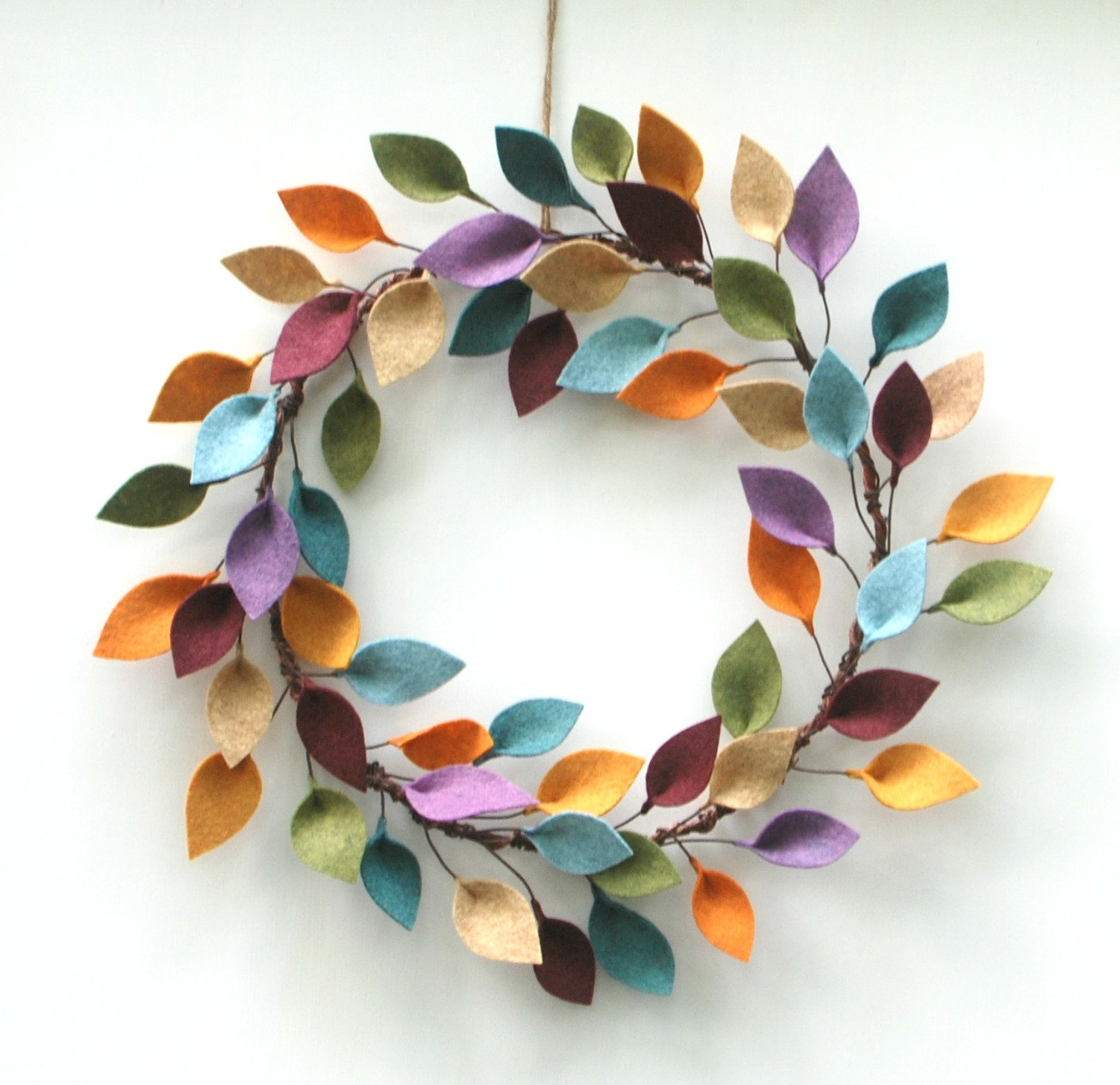Modern Felt Autumn Leaves by Curious Bloom