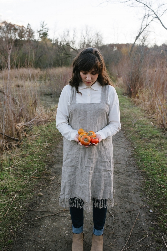 Fringed Linen Pinafore by Hue by Crafts