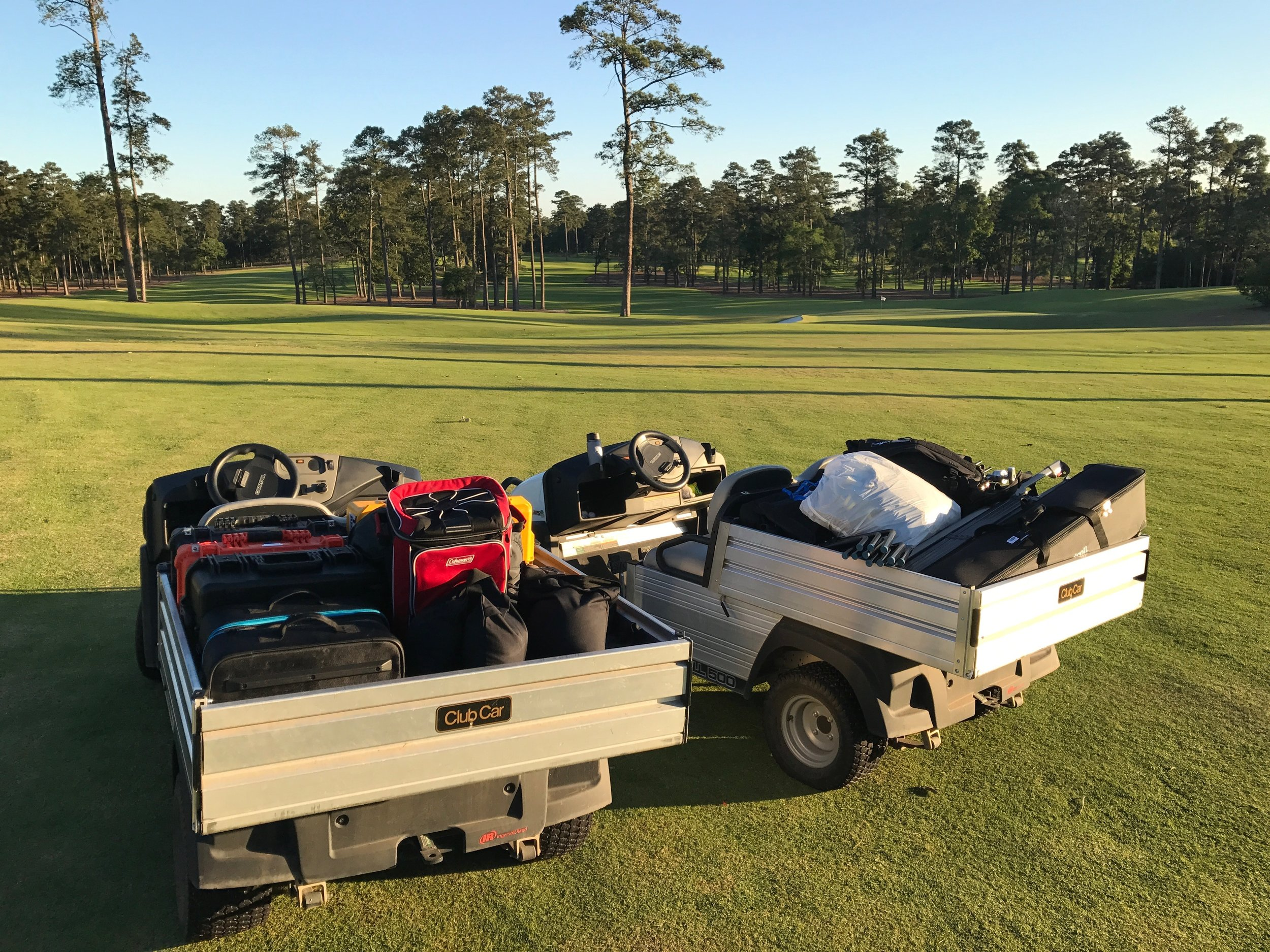 Tip #1: Always get the Club Car to haul your rig.