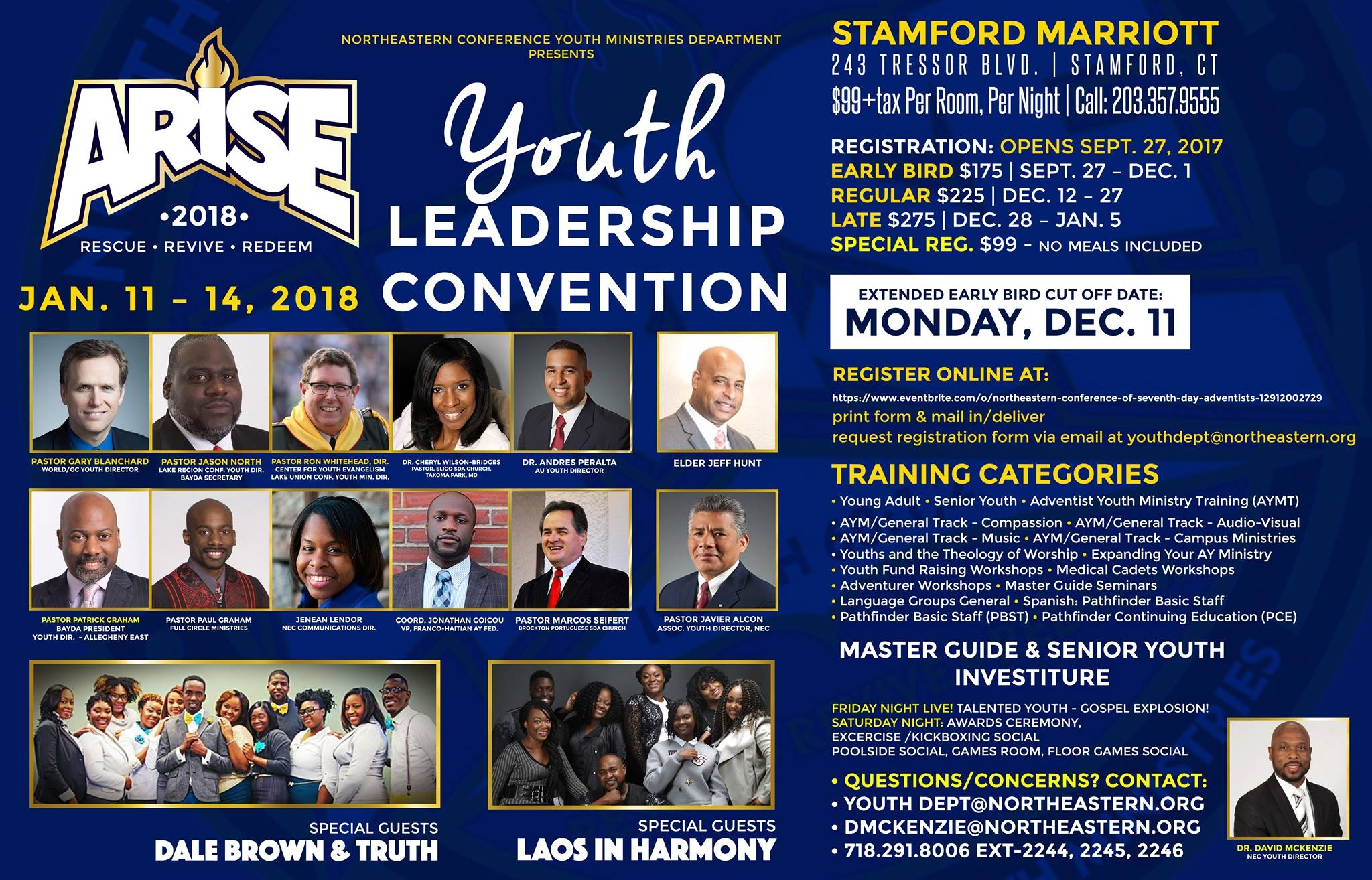 Arise 2018 NEC Youth Ministries Convention — Northeastern Conference