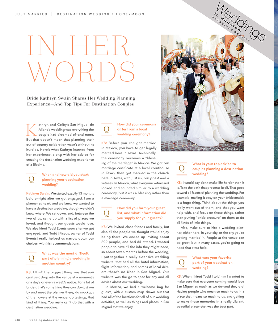 Kathryn Swain Wedding Advice