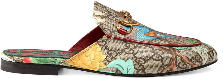 I got these exact Gucci Princetown Mules in Milan a few months ago and I wear them almost everyday. They are incredibly comfortable and so easy to pop on and off. Great for travel. This print is really hard to find now, so the Gucci website is the best place to get them.