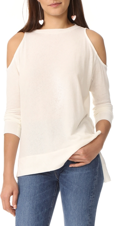 So cute on! Its my travel shirt. So lightweight and the most gorgeous cream color. I wear mine with jean shorts on warm days and its perfection.