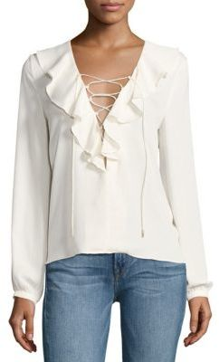 Ruffles + Lace Up+ Winter White= Yes