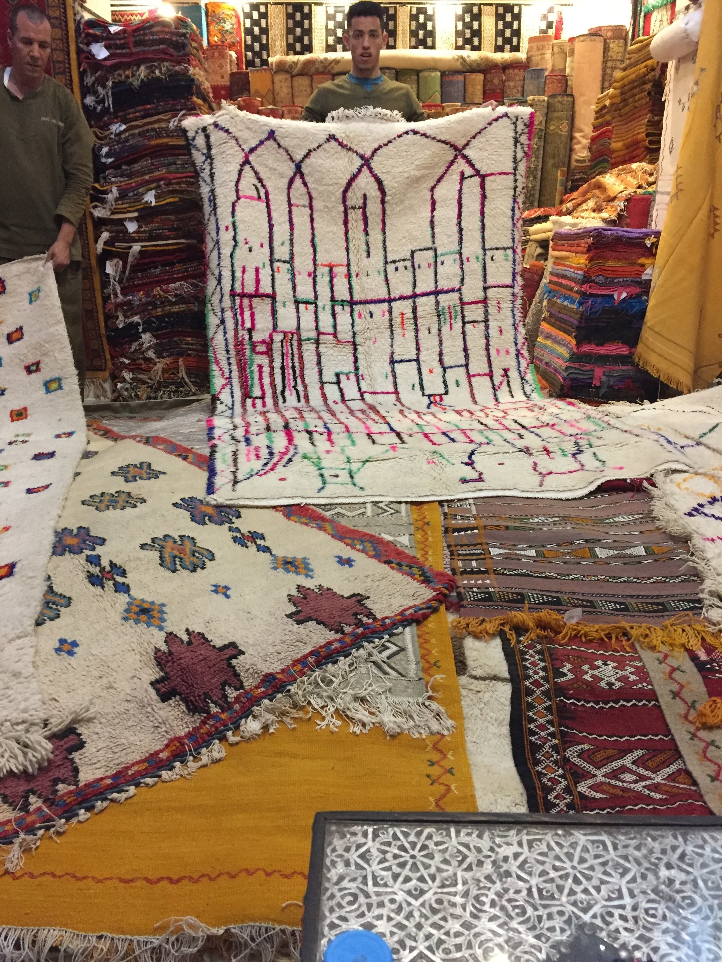 We spent over 4 hours looking at hundreds of rugs, only choosing a specific few to bring home.