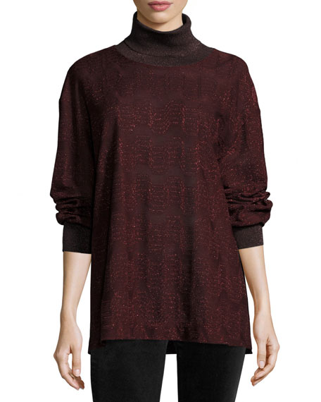 This Missoni Sweater is fabulous and what I was wearing at the event. Gorgeous in person, and the perfect hue of Merlot red!