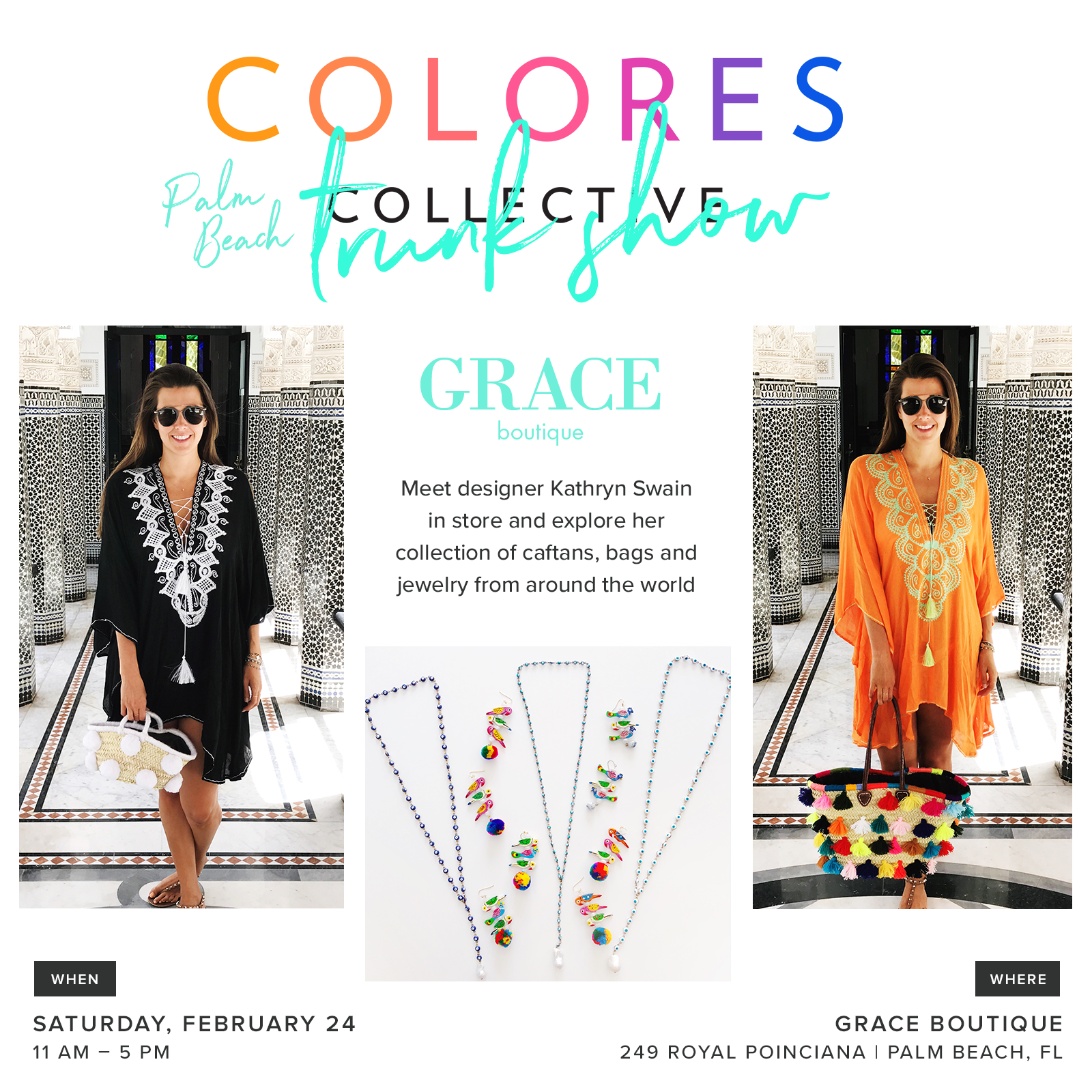 Grace Boutique Palm Beach Trunk Show Colores Collective