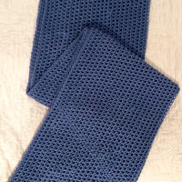 Crocheted Infinity Scarf - Fun decorative cowl if done in  cotton.