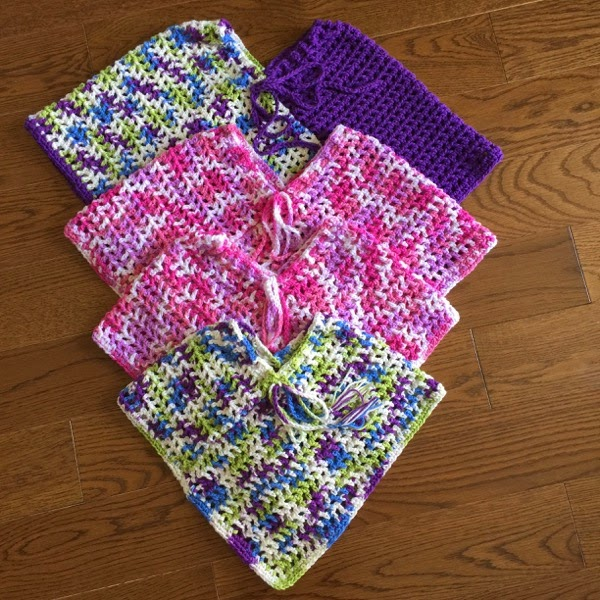 Girls Poncho  - Such a cute project for an Easter sweater.